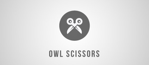 owl scissors logo