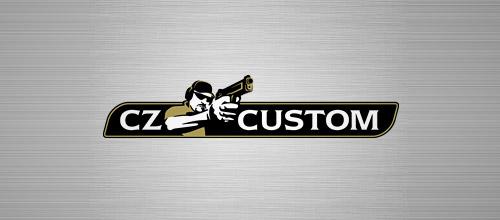 CZ custom gun logo design