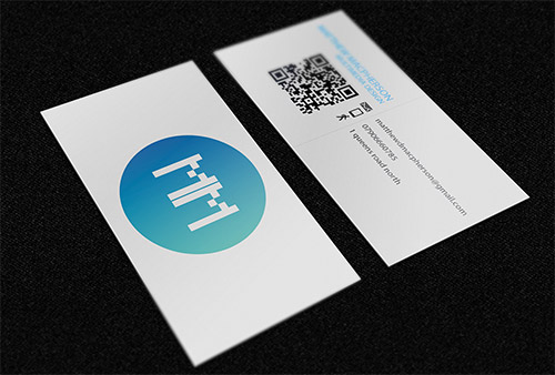 blue green business card gradient
