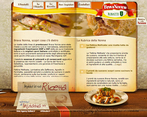 brown food website design