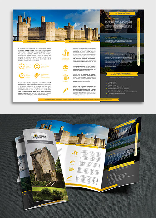 trifold traveling brochure