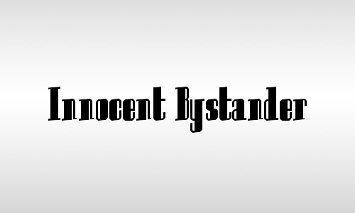 innocent bystander fonts