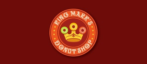 king mark donut logo design