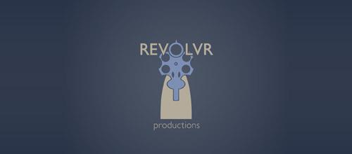 revolvr prod gun logo design