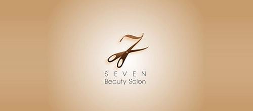 seven beauty salon logo