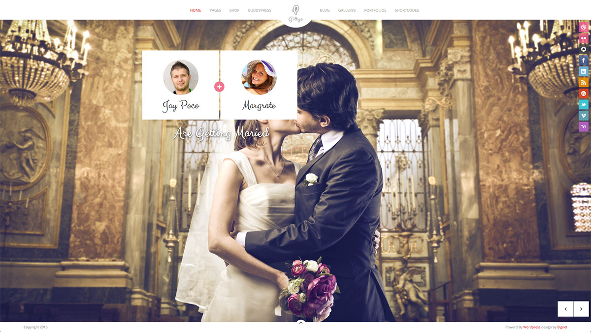 wedding responsive theme