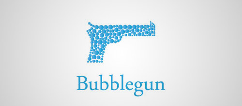 bubblegun gun logo design