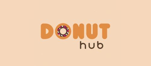 donut hub logo design
