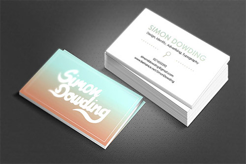 simon dowding gradient business card