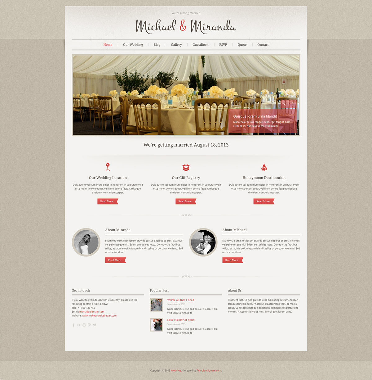classic wedding wordpress theme