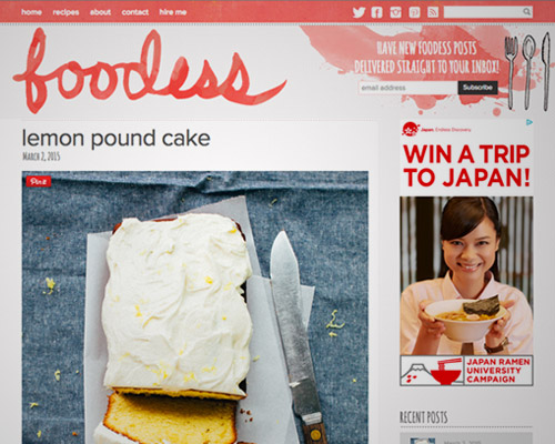 foodess website design