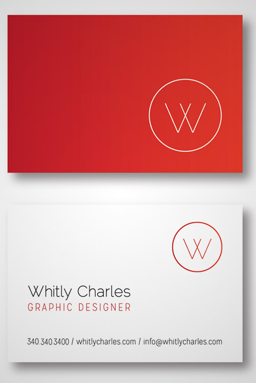 red gradient business card