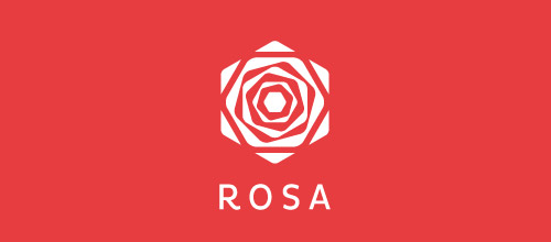 rosa rose logo design