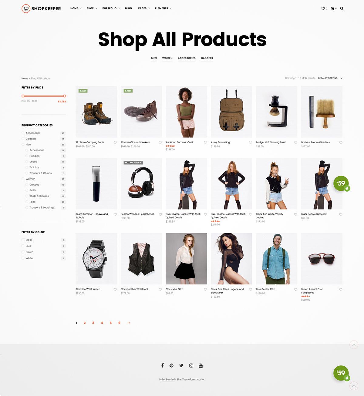 ecommerce wp theme