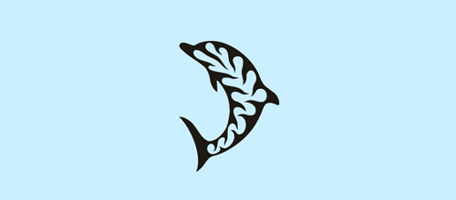dolphin decor logo design
