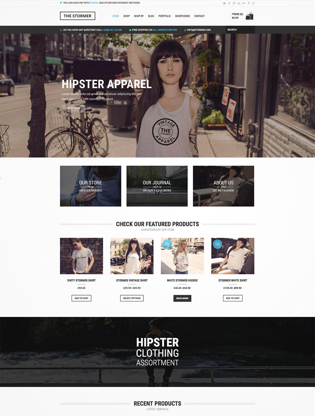 hipster online shop