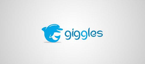 giggles dolphin logo design