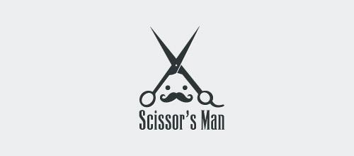scissor man logo