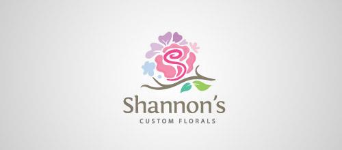Shannon floral rose logo design