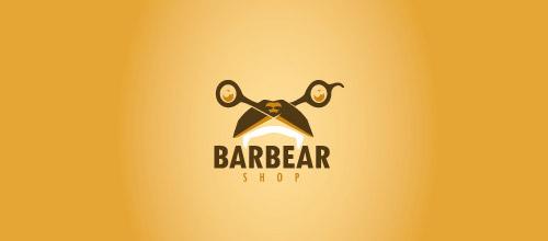 barbearshop scissors logo