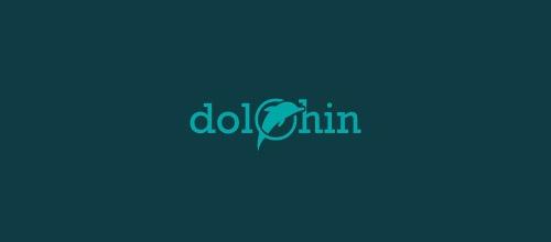nice dolphin logo design