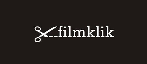 film klik scissors logo design