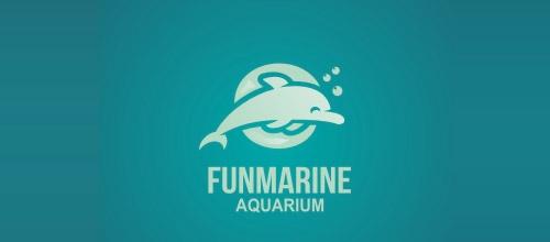 fun marine dolphin logo design