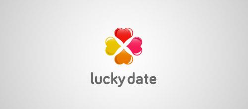 lucky  date  clover logo