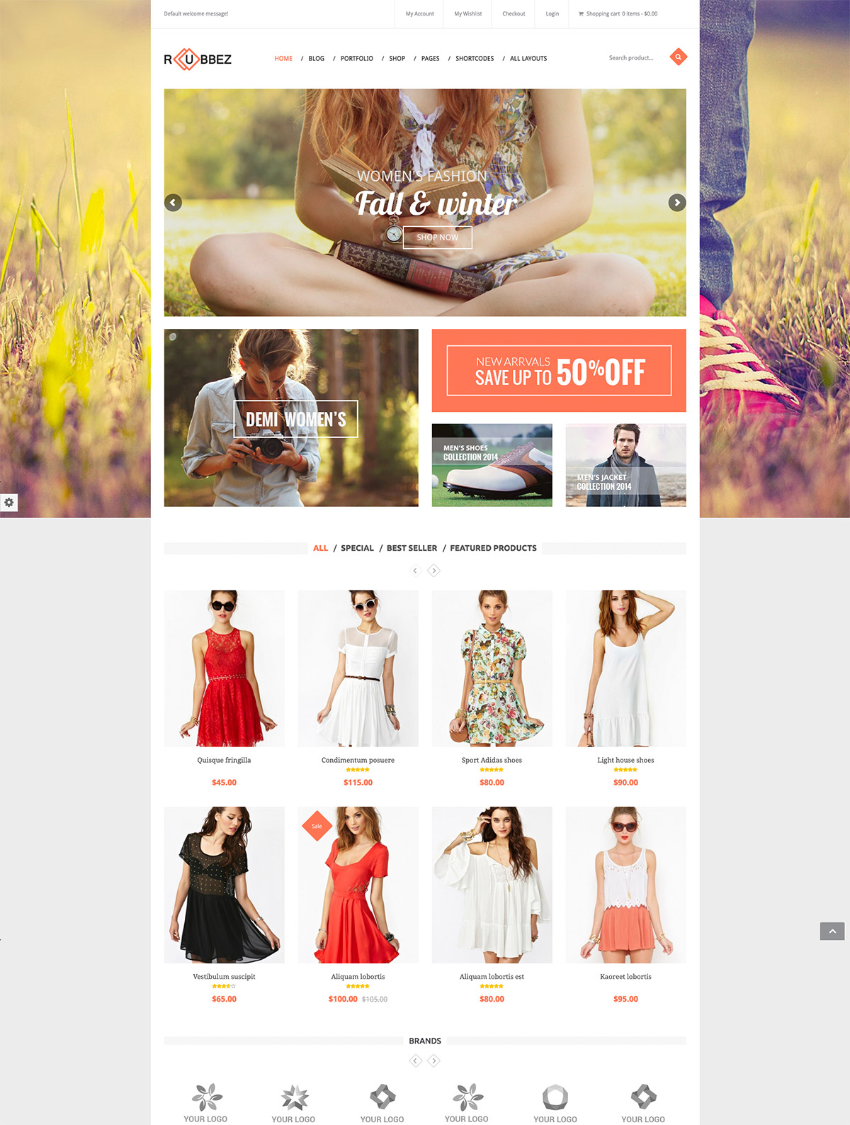 corporate woocommerce theme