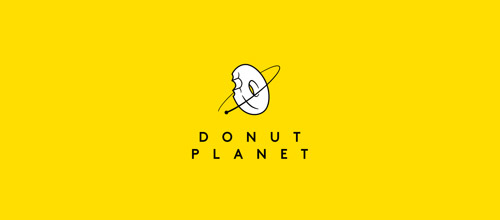 donut planet logo design