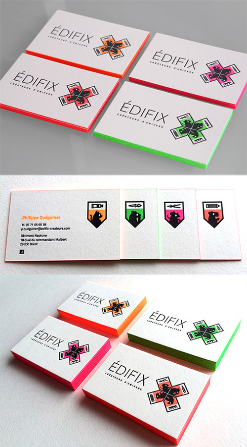 edifix neon business card design