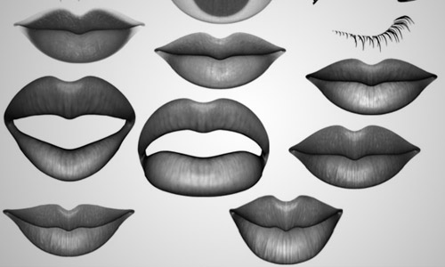 lips photoshop brushes free