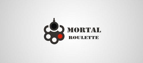 mortal roulette gun logo design