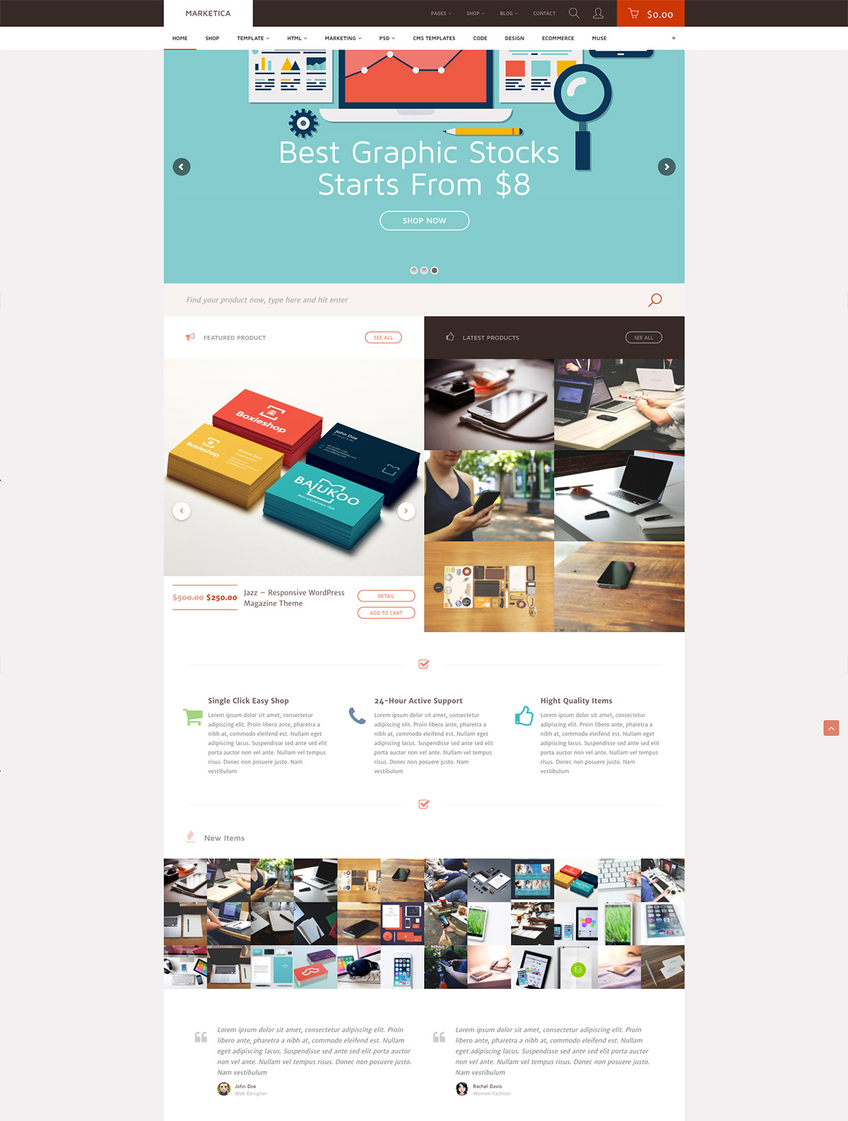 marketplace woocommerce template