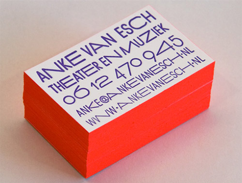 anke van esche neon business card design