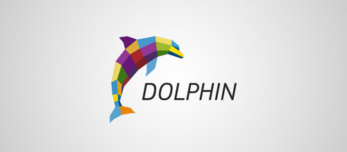 colorful dolphin logo design