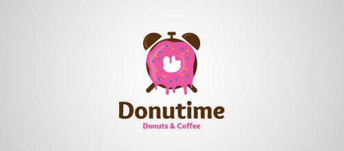 donutime logo design