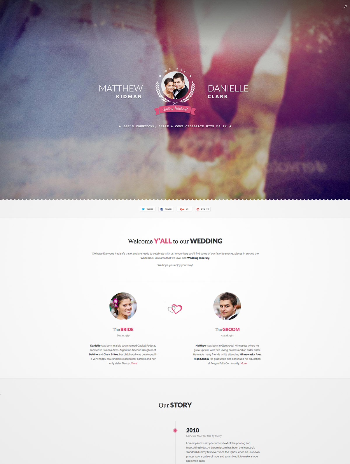 unique wedding wordpress theme