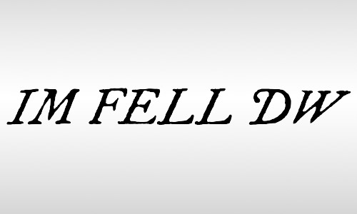 im fell pica vintage font