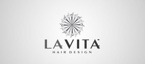 la vita scissors logo design