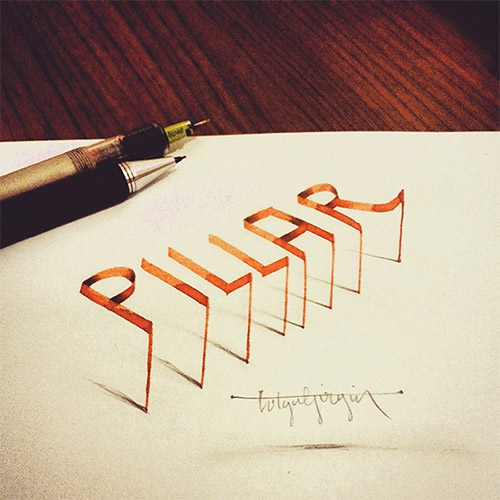 pillar calligraphy tolga girgin