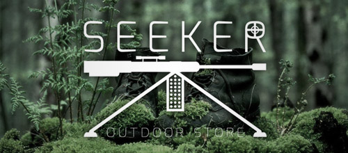 seeker outdoor gun logo design