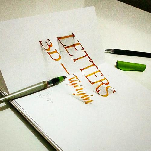 3d letters girgin