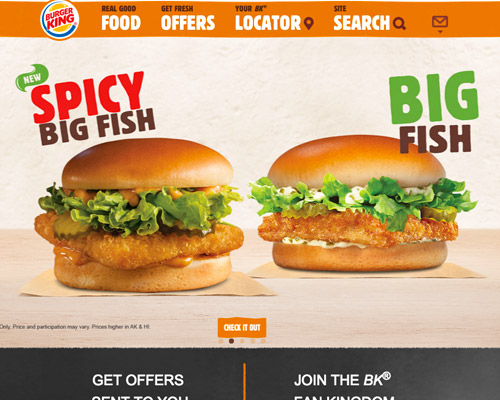 burger king web design