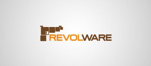 revolware gun logo design