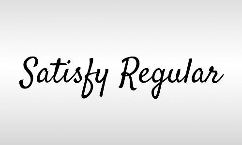 satisfy vintage font