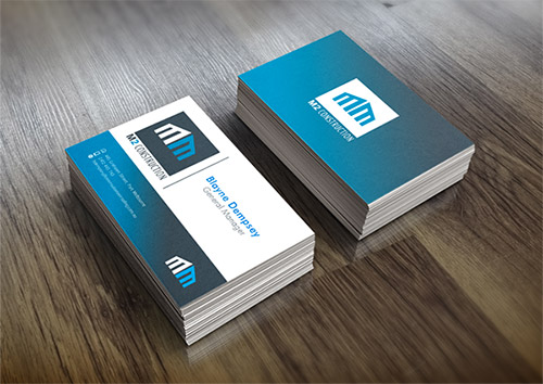 blue business card gradient