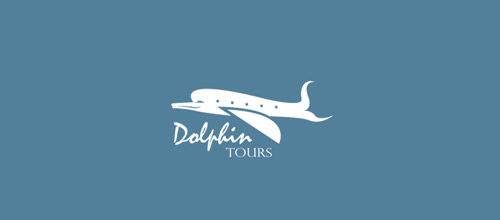 dolphin tours logo design