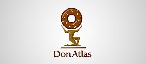 don atlas donut logo design