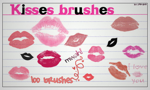 kisses photoshop brushes